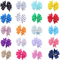 Wholesale Hair Bows Hair Pin for Kids Girls Children Hair Accessories Baby Hairbows Girl Hair Dot Bows with Clips Flower Hair Clip