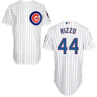 baseball field sizes - ree shipping Chicago Cubs Anthony Rizzo Home Cool Base Jersey w Wrigley Field th Anniversary Patch size M XL