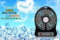 Wholesale Mini Protable Fan Multifunctional USB Rechargerable Kids Table Fan LED Light Battery Adjustable Speed Multi Color