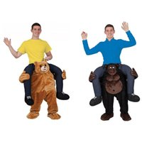 bear pants costume - 2017 New Carry Me Ride on Bear Oktoberfest Costume Animal Funny Dress Up Fancy Pants Novelty Mascot Custome In stock