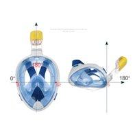 Wholesale New Underwater Diving Mask Snorkel Set Swimming Training Scuba mergulho full face snorkeling mask Anti Fog For Gopro Camera
