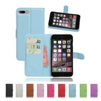Carpeta de cuero de caja del teléfono celular cubierta del tirón para el iPhone híbrido 7 Plus de 5.5