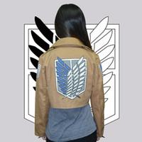 Wholesale Attack on Titan Jacket Shingeki no Kyojin jacket Legion Cosplay Costume Jacket Coat Sizes High Quality Eren Levi