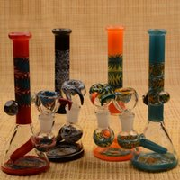 Wholesale Grace Glass Bong Beaker USA Color Glass Beaker Bongs New Arrival inch Glass Bong Beaker Base with mm Joint