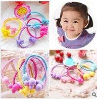 Wholesale Cartoon Candy colors Children new Durable elastic Fashion Elegant hair rubber headress womens girl jewelry
