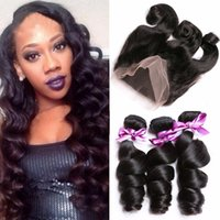 band elastic machine - Malaysian Elastic Band Lace Frontal Closure With Bundles Cheap A Grade Lace Band Frontal Cloure With Loose Wave Human Hair Weaves