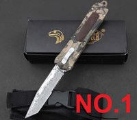 damascus hunting knife - microtech Troodon Damascus Collect knife Hunting Folding Pocket Knife Survival Knife Xmas gift for men freeshipping