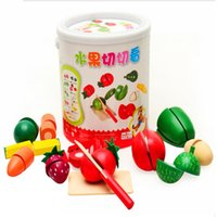 Wholesale DIY Creative Funny Kitchen Food Play Toy Cutting Fruit Vegetable For Children Kids Gift Syeer A00116