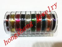 Cheap 0.3mm mix color 10Rolls lot Copper Wire ,Jewelry Findings For Chunky jewelry necklace making ( 10m rolls )