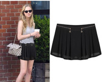 Wholesale women hot sale short skirts pleated black beach shorts summer new arrival sizes color