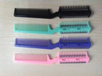 Wholesale 12 Color Razor Comb Hair Cutter Thinning Shaper Comb Razor Blades Trimmer Barber Remover Tool Super