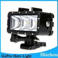 Wholesale 30m Underwater Waterproof High Power Dimmable LED Video POV Flash Fill Light Night Light For GoPro Hero