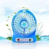 hand fan battery - 2016 Portable Mini Lithium Battery Fan Small Plastic USB Rechargeable Battery Hand Tables Cooling Fan Gift for Indoor Outdoor from China