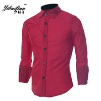 Wholesale Men Shirts New Autumn Luxury Slim Long Sleeve Brand Formal Business Fashion Shirts Three Colors Button Shirt