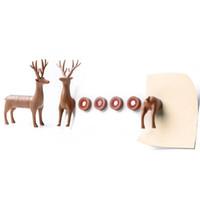abs shapes - 5sets Deer Shape ABS Fridge Magnets Sticker D Creative Novelty Plastic Refrigerator Magnet Crafts Darts Home Decoration