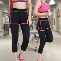 Wholesale Ms yoga fitness leisure suit off vest type bra show thin fitness yoga pants two piece outfit