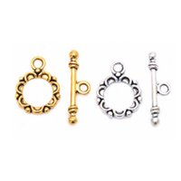 Wholesale New Fashion Tibetan Silver Circle Toggle Clasps Making Jewelry Findings for DIY Making Bracelets Sets