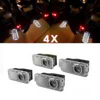 Wholesale 4PCS AUDI Car Door LED Laser Logo Light Ghost Shadow Projector Courtesy For A4 Q7