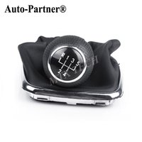 Wholesale 5 Speed Speeds Shifter Gear Shift Knob For VW For Mk4 Golf GTI R32 Bora Black PU Leather
