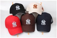 Wholesale 5 Colors Yankees Hip Hop MLB Snapback Baseball Caps NY Hats MLB Unisex Sports New York Adjustable Bone Women casquette Men Casual headware