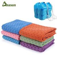 Wholesale DMASUN Slip resistant yoga blanket good quality Gymnastics yoga mat towel Non slip Fitness Bikram Towels
