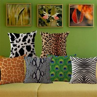 animal pillow manufacturer - Manufacturers Selling Personality Animal Pattern Home Pillowcase Peacock Cow Zebra Cotton Linen Square Pillow Case BY DHL