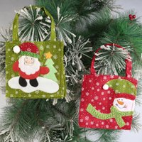 acrylic snowman - New Santa Claus Candy Bags Christmas Decorations Christmas Gifts Bag Snowman And Santa Claus Candy Bags Cloth Gift Bag