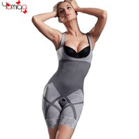 bamboo body shaper - Hot bamboo fiber bodysuits body shaper gray full body slimming underwear tummy control waist shaper plus size shapewear