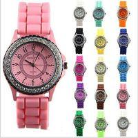 watch silicon gel - Charm Geneva Crystal Jelly Gel Silicon Girl Women s Quartz Wrist Watch