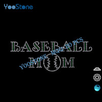 baseball mom t shirts - Hot Sales New Design Baseball Mom Hot Fix Rhinestone Motif For Sports t Shirts pieces
