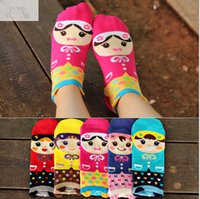 Wholesale 2016 new lovely girls cartoon Socks Women s D Cute princess Socks comfortable cotton socks candy color sports skateboard ankle sox