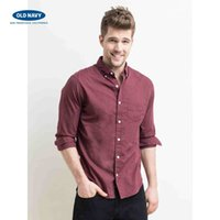Wholesale Men s Solid Color Long Sleeved Shirt Business Casual Thin Old Navy Not Through A Flexible Delicate Soft And Comfortable Odorless