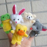 bedtime stories for kids - 10 Pieces Baby Kids Finger Puppet Cartoon Animal Plush Toys Child Baby Favor Puppets For Bedtime Stories