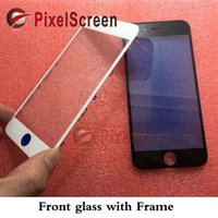 Wholesale cold press OEM Black White LCD Front Touch Screen Glass Outer Lens with Frame Bezel for iphone inch