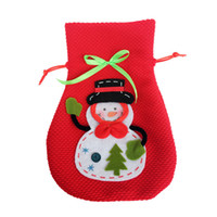 Wholesale Christmas snowman three dimensional candy Gift bag creative home decoration products Christmas gift bag or retail