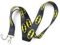batman lanyard keychain - BLACK Batman Neck Strap Lanyard Mobile Phone Id Card Keychain Holder