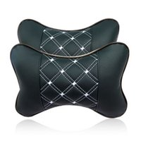 acura leather seats - Interior Accessories Seat Covers Car headrest neck pillow cushion car space leather embroidery kaozhen car pillow