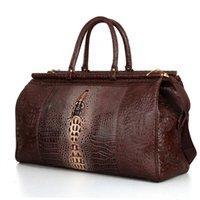 P002 tote bag nera modello coccodrillo, la borsa di coccodrillo, borsoni da viaggio, borsa duffle, valigie viaggio, gli uomini sacca da viaggio, le donne duffle