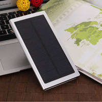 Wholesale New Ultra thin polymer solar power bank mAh USB battery charger for iPhone7 Samsung S7 S6 Android smart mobile phones