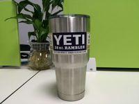 Wholesale 2016 Hot Sale Stainless Steel Insulation Cup OZ YETI Cups Cars Beer Mug Large Capacity Mug Tumbler