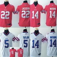 Wholesale Youth Buffalo Jerseys jackson taylor watkins red white kids stitched jersey size s xl