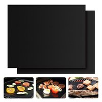 bake shrimp - Grill Pad PFOA free Heavy Duty Non stick Mats for Ribs Shrimps Steaks Burgers Vegetables BBQ Grill Mat set of