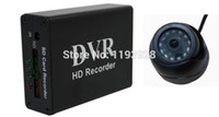 Wholesale DHL sd card digital video audio recorder car dvr with mini Dome camera