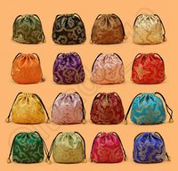 Wholesale 500PCS LJJH1368 Wedding Party Favor Gift Candy Bag Jewelry Packing CM satin Jewellery Drawstring Gift Bag POUCHES