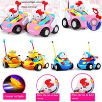 Wholesale new children electric cartoon remote control car with music baby kids toys Christmas birthday for gift