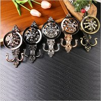 Wholesale Crystal curtain hook European style Home decor Pothook Curtain accessories pair Silver Decorative wall hooks for hanging