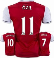 Wholesale High quality players version Adult GIROUDS ALEXISES home red Camisa Shirts Ozil WALCOTTS RAMSEY WELBECK CECH jersey Jersey shirt