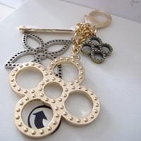 Wholesale Women new fashion key holder big metal flower car key chain handbag charms bag accessories keychain llaveros