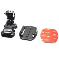 Wholesale Go pro J Hook Buckle Flat Mount with M sticker adapter for GoPro HD Hero session SJ4000 SJ5000 XiaoMi Camera GP57