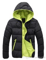 Wholesale Brand Tops New Men s Cotton Blend Coat Hooded Padded Jacket Casual Thick Outwear For Men Winter Plus Size Clothing For Men